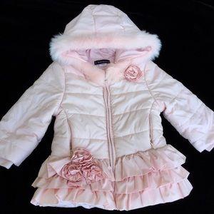 71d9078dfe9 Kids  Girls Pink Faux Fur Coat on Poshmark